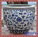 景德鎮陶瓷魚缸現代中式裝飾家居擺件聚寶盤風水字畫缸荷花大缸
