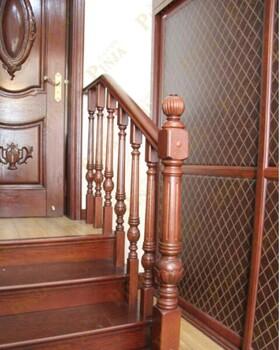 实木雕花楼梯立柱上海复式实木楼梯品家整木家装案例图片欣赏