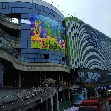 LED格栅屏灯条屏网格屏镂空屏的设计思路和技术特点