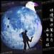 中秋节商场美陈景区布景充气仿真超级月兔大月亮月球气模灯充气月球灯星球灯