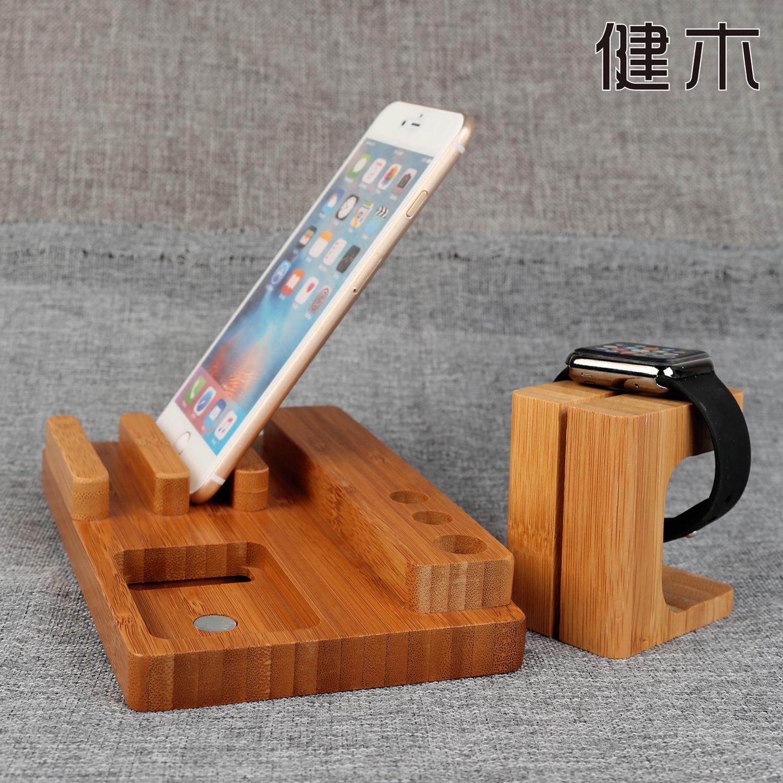 山东创意竹木手机支架苹果ipad手机手表笔展示架木