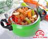七彩美味压锅福快餐与涮菜的结合使其色香味俱全