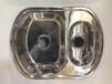 广东不锈钢水槽厂家出口子母(带垃圾桶)双盆高级不锈钢水槽WY-7050