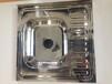 俄罗斯|中亚时尚单盆带板不锈钢厨房水槽6060CM