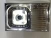 玻利维亚热销单盆带板不锈钢水槽WY-8050SA