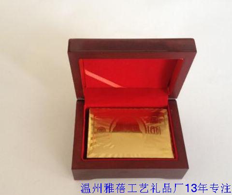 金箔扑克牌木盒生产定做13年厂家
