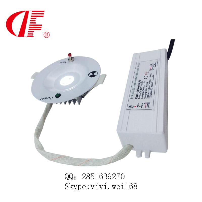 圆形应急吸顶灯,超薄应急天花灯,3W面板灯飞碟灯