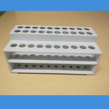试管架,耐酸碱耐高温,带水槽试管架,水槽两排10孔,30孔试管架图片