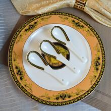 供应欧美风瓦萨其骨质瓷50头餐具唐山骨瓷陶瓷套具碗盘