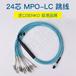 24芯MPO-LC多模萬兆OM3-300進口MPO光纜