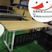 合肥钢架老板桌板式主管桌定做大班桌经理办公桌