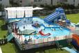 天蕊游乐供应充气儿童游乐设备水上乐园支架泳池水滑梯