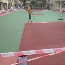 供应硅PU篮球场地面涂装|PU球场涂料厂家施工图片
