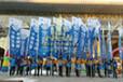 石家庄注水旗杆石家庄注水旗批发3米4米5米7米注水旗杆注水刀旗注水彩旗背包旗门型展架广告旗杆广告帐篷手拉旗