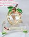 专业定制创意水晶苹果,水晶礼品,水晶摆件
