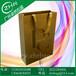 定做金色高档环保礼品纸袋UV印刷烫金白卡纸袋织带穿孔手提购物纸袋
