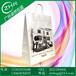 供应定做进口环保120克白色牛皮纸袋设计定制服装商品手提包装纸袋