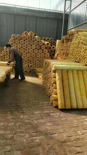 浙江离心玻璃棉保温管生产厂家,高温玻璃棉管图片4