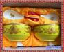 景德镇陶瓷寿碗红黄搭配百岁寿辰七八九旬寿辰可加字套装
