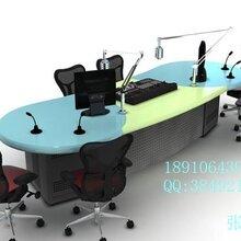 河北广播桌,直播桌,导播桌,播控桌,全钢木制成图片