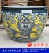 陶瓷大鱼缸厂家定做口径一米以上风水摆设手画瓷器缸花盆种树缸
