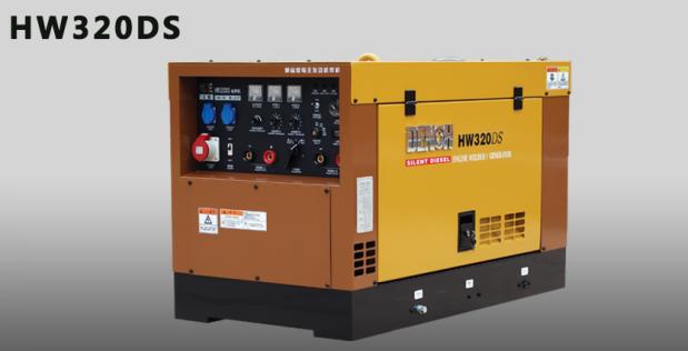 日本电王柴油水冷发电电焊机HW320DS,45-300A,管道纤维素氩弧焊机