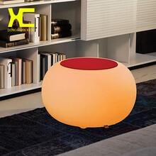 led发光家具家庭小茶几发光小圆桌七彩变换发光茶几桌