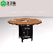 现代简约大理石桌火锅桌椅批发餐桌椅组合烧烤桌子皮艺椅子