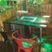 火锅桌大理石电磁炉火锅桌椅韩式铸铁火锅桌烧烤肉实木火锅桌