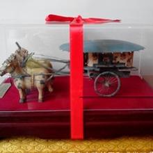 陕西文化礼品古铜车马图片