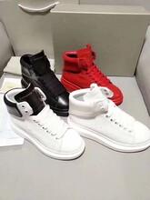 麦昆全真皮复古高帮小白鞋工厂