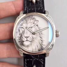 沛纳海925纯银雕花狮子手表工厂图片