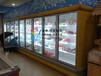 玻璃门风幕柜,定做立式冷冻柜,立式玻璃门酸奶展示柜