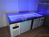 上掀门自助餐冷柜,上翻盖菜品展示柜,定做海鲜冰台