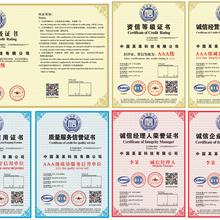 长风国际七证AAA级信用等级证书企业投标加分图片