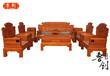 红木沙发缅甸花梨木皇宫椅沙发大果紫檀实木中式明清古典客厅家具