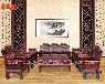 红木家具客厅组合整装卯榫明清黑酸枝木雕花阔叶黄檀财源滚滚沙发
