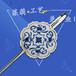 供应金属杆子金属书签定做,脸谱书签制作批发,广州莱莉