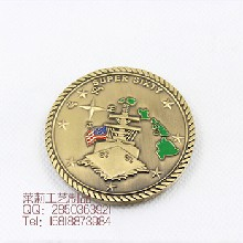 金属纪念币定制,纪念币纪念章制作厂家,广州莱莉徽章工艺