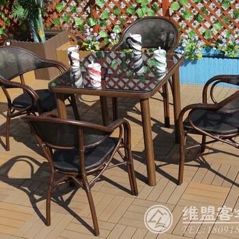 星巴克碳钢桌椅