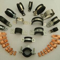 福莱通线缆紧固件,外包橡胶软管紧固夹,双层SKM波纹管管夹,橡胶包塑金属管夹
