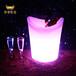 led发光冰桶时尚七彩酒桶装饰家具大容量塑料花盆可充电可遥控
