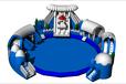 充气水池充气游泳池充气水池滑梯组合水上游乐设备充气水上乐园