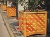 实木花盆、户外木制花架、防腐圆形花箱