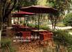 成都户外实木桌椅公园休闲桌椅庭院餐桌