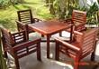 常州实木桌椅户外桌椅老人院休闲茶几