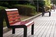 工厂大量生产加工户外铁艺休闲椅铸铝公园椅钢结构木质靠背椅