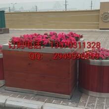 佛山不锈钢花箱厂家深圳进口不锈钢包边花槽北京钢木花箱价格