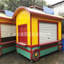 北京旅游景区防腐木售货亭防腐木售货木屋钢木售卖亭可定制厂家