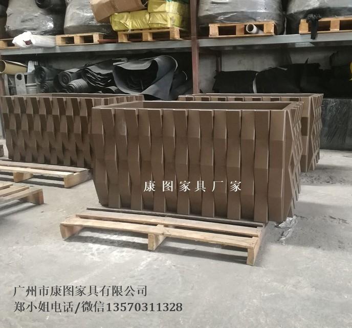 广场街道长方形花箱欧式铁艺户外花箱铁艺花槽